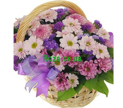 """Chrysanthemum Flower Basket"" in the online flower shop roza.ck.ua"