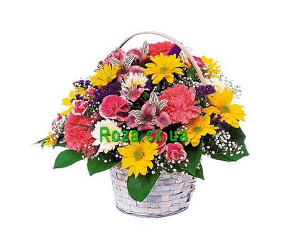 """""""Корзина цветов хризантем"""" в интернет-магазине цветов roza.ck.ua"""