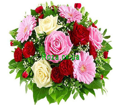 """A graceful bouquet of flowers"" in the online flower shop roza.ck.ua"