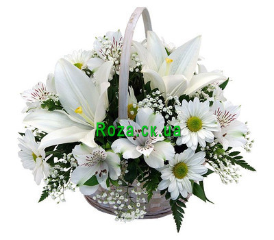 """""""Basket of flowers from lily"""" in the online flower shop roza.ck.ua"""