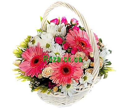 """Chrysanthemum Basket"" in the online flower shop roza.ck.ua"