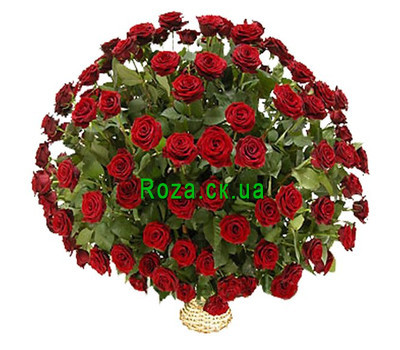 """Корзина из роз"" в интернет-магазине цветов roza.ck.ua"
