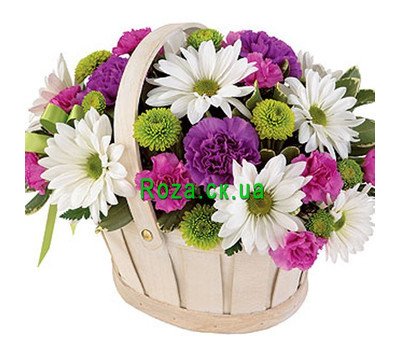 """Chrysanthemum Basket"" in the online flower shop roza.ck.ua"