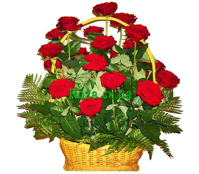 """Basket of roses"" in the online flower shop roza.ck.ua"