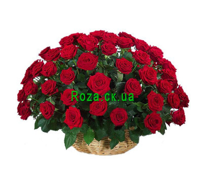 """Basket of red roses in Cherkassy"" in the online flower shop roza.ck.ua"