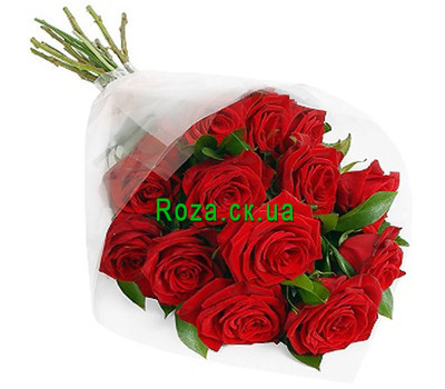 """""""Red roses in cellophane"""" in the online flower shop roza.ck.ua"""