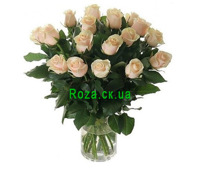 """Cream roses in a bouquet"" in the online flower shop roza.ck.ua"