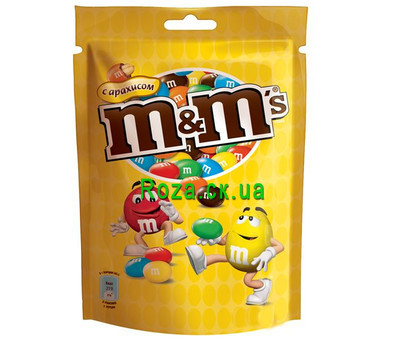 """M&M's with peanuts"" in the online flower shop roza.ck.ua"
