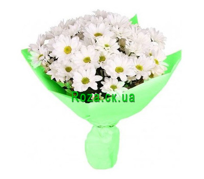 """A small bouquet of chrysanthemums"" in the online flower shop roza.ck.ua"