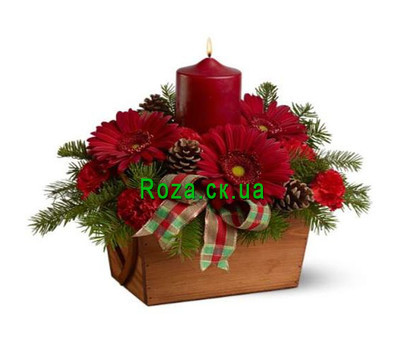 """""""New Years composition of Cherkassy"""" in the online flower shop roza.ck.ua"""