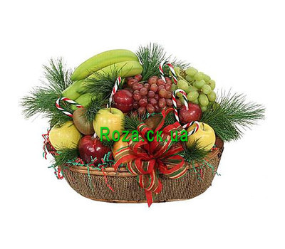 """New Years basket in Cherkassy"" in the online flower shop roza.ck.ua"