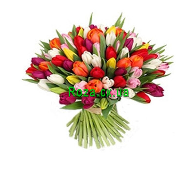 """""""A huge bouquet of tulips"""" in the online flower shop roza.ck.ua"""