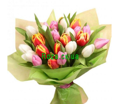 """Tulips with delivery to Cherkassy"" in the online flower shop roza.ck.ua"