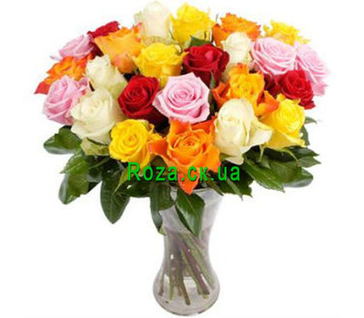 """Magnificent bouquet of roses"" in the online flower shop roza.ck.ua"