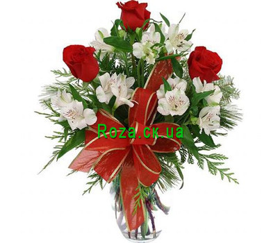 """Winter bouquet of flowers in Cherkassy"" in the online flower shop roza.ck.ua"
