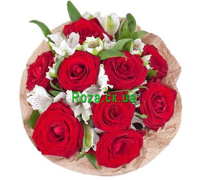 """""""Небольшая коробка из роз и альстромерий"""" в интернет-магазине цветов roza.ck.ua"""