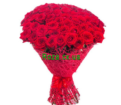 """Wonderful bouquet of 81 red roses"" in the online flower shop roza.ck.ua"