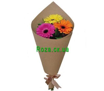 """Mini bouquet of gerberas"" in the online flower shop roza.ck.ua"