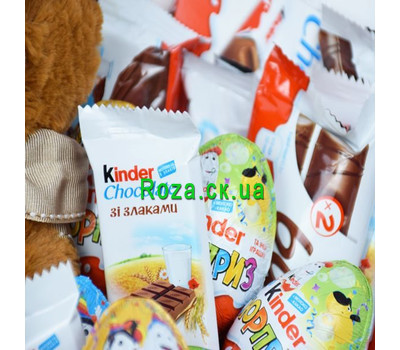 """""""Корзина со сладостями Kinder 4"""" в интернет-магазине цветов roza.ck.ua"""