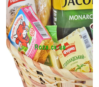 """Gift basket with coffee"" in the online flower shop roza.ck.ua"