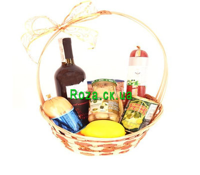 """Gift basket with products"" in the online flower shop roza.ck.ua"