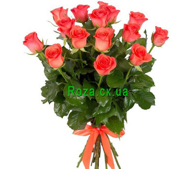 """15 orange roses"" in the online flower shop roza.ck.ua"