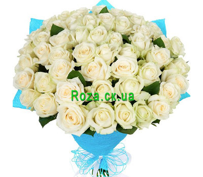 """51 white rose"" in the online flower shop roza.ck.ua"
