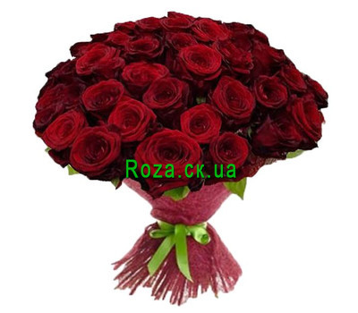 """65 red roses"" in the online flower shop roza.ck.ua"