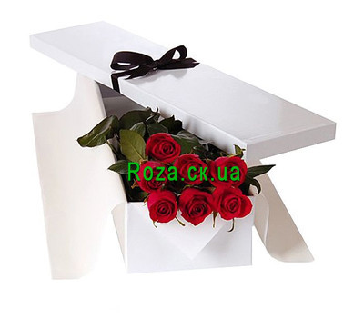 """""""7 roses in a box"""" in the online flower shop roza.ck.ua"""