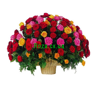 """Large basket of roses"" in the online flower shop roza.ck.ua"