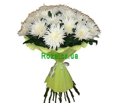 """""""Букет белых одноголовых хризантем"""" в интернет-магазине цветов roza.ck.ua"""