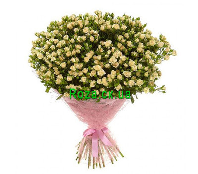 """Bouquet of 101 bush roses"" in the online flower shop roza.ck.ua"