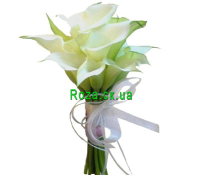 """Bouquet of callas"" in the online flower shop roza.ck.ua"