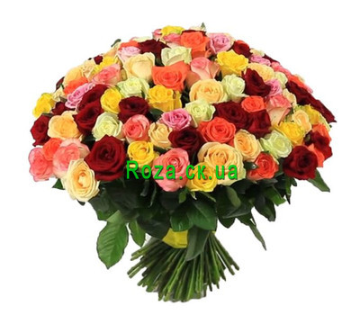 """Bouquet of 155 roses"" in the online flower shop roza.ck.ua"