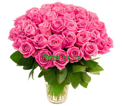 """Bouquet of 55 pink roses"" in the online flower shop roza.ck.ua"