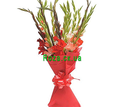 """Bouquet of gladiolus"" in the online flower shop roza.ck.ua"
