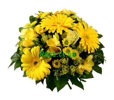 """Bouquet of chrysanthemums and gerberas"" in the online flower shop roza.ck.ua"
