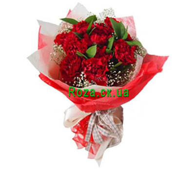 """Bouquet of red carnations"" in the online flower shop roza.ck.ua"