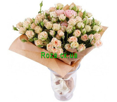 """Bouquet of creamy bush roses"" in the online flower shop roza.ck.ua"