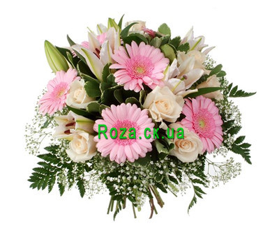 """Bouquet of lilies and gerberas"" in the online flower shop roza.ck.ua"
