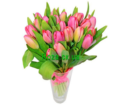 """Bouquet of pink tulips"" in the online flower shop roza.ck.ua"
