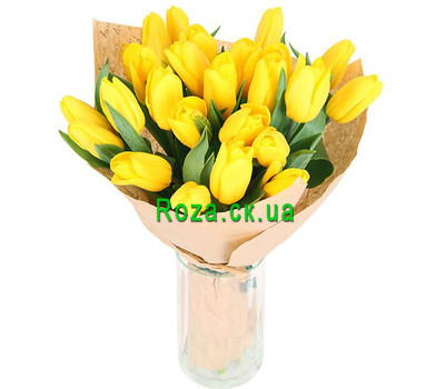 """Bouquet of yellow tulips"" in the online flower shop roza.ck.ua"