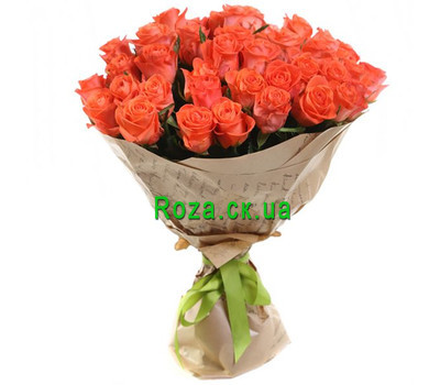 """Bouquet of orange roses"" in the online flower shop roza.ck.ua"
