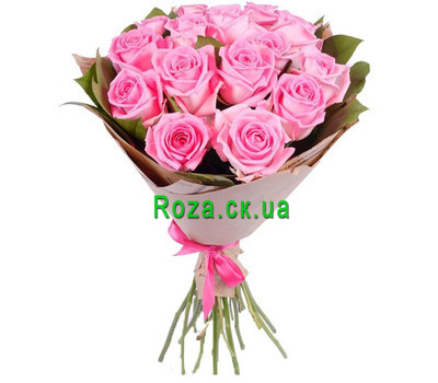 """""""Bouquet of pink roses"""" in the online flower shop roza.ck.ua"""