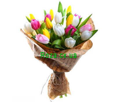 """""""Bouquet of Tulips"""" in the online flower shop roza.ck.ua"""