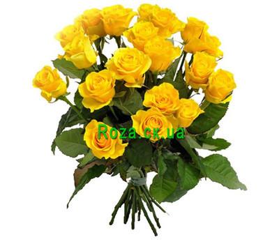 """""""Букет ярких желтых роз"""" в интернет-магазине цветов roza.ck.ua"""
