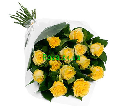 """Bouquet of yellow roses"" in the online flower shop roza.ck.ua"