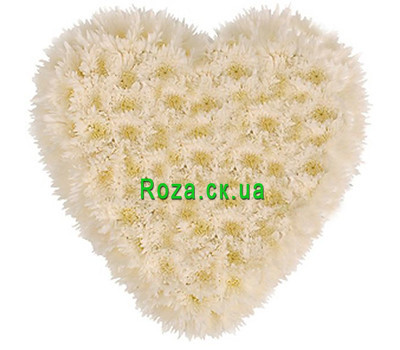 """Flower heart with chrysanthemums"" in the online flower shop roza.ck.ua"