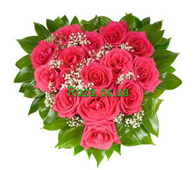 """Flower heart"" in the online flower shop roza.ck.ua"