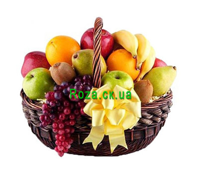 """Fruit basket for good mood"" in the online flower shop roza.ck.ua"
